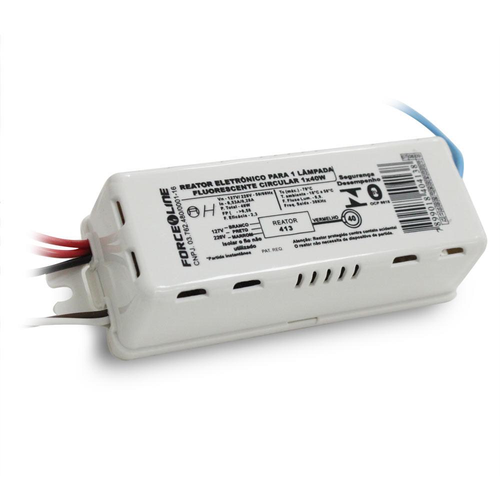Reator eletr nico para 1 l mpada circular fluorescente 40 for Tubo fluorescente circular 32w