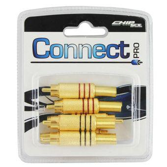 Plug-RCA-Macho-Connect-Gold-0390022-6-pecas---CONNECT-PRO