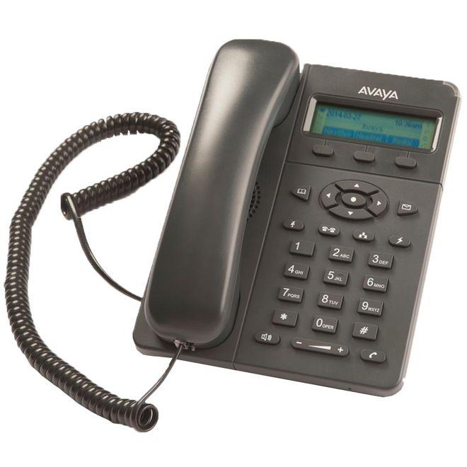 Telefone Com Fio Avaya Ip E129 Com Id Preto