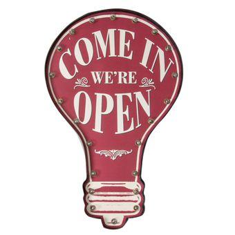 Quadro-Decorativo-Luminoso-Come-In-Were-Open