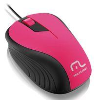 Mouse-Com-Fio-USB-Emborrachado-Rosa-E-Preto-MO223-Multilaser