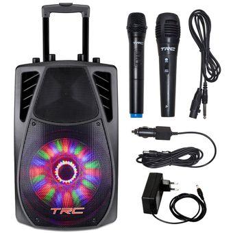 Caixa-de-Som-Amplificada-360W-Portatil-Bluetooth-Radio-e-Microfones-TRC359---Delta-Max