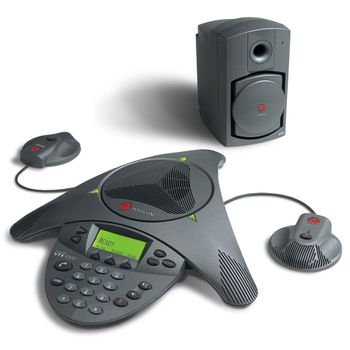 Audio-Conferencia-Soundstation-VTX-1000-com-Microfone-e-Subwoofer---Polycom