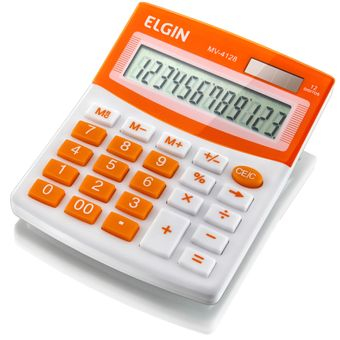 Calculadora de Mesa 12 Dígitos MV4128 Laranja Elgin