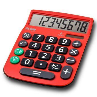 Calculadora-de-8-digitos-Vermelha-Elgin-MV-4131