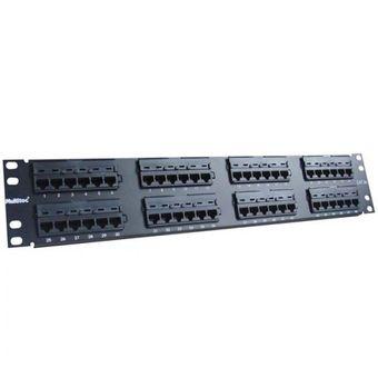 Patch-Panel-para-Rede-Estruturada-com-48-Portas-PN-P48Q6-Cat-6---Multitoc
