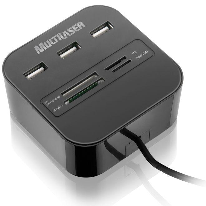 Hub-USB-e-Leitor-de-Cartao-de-Memoria-Universal-Multilaser-AC121