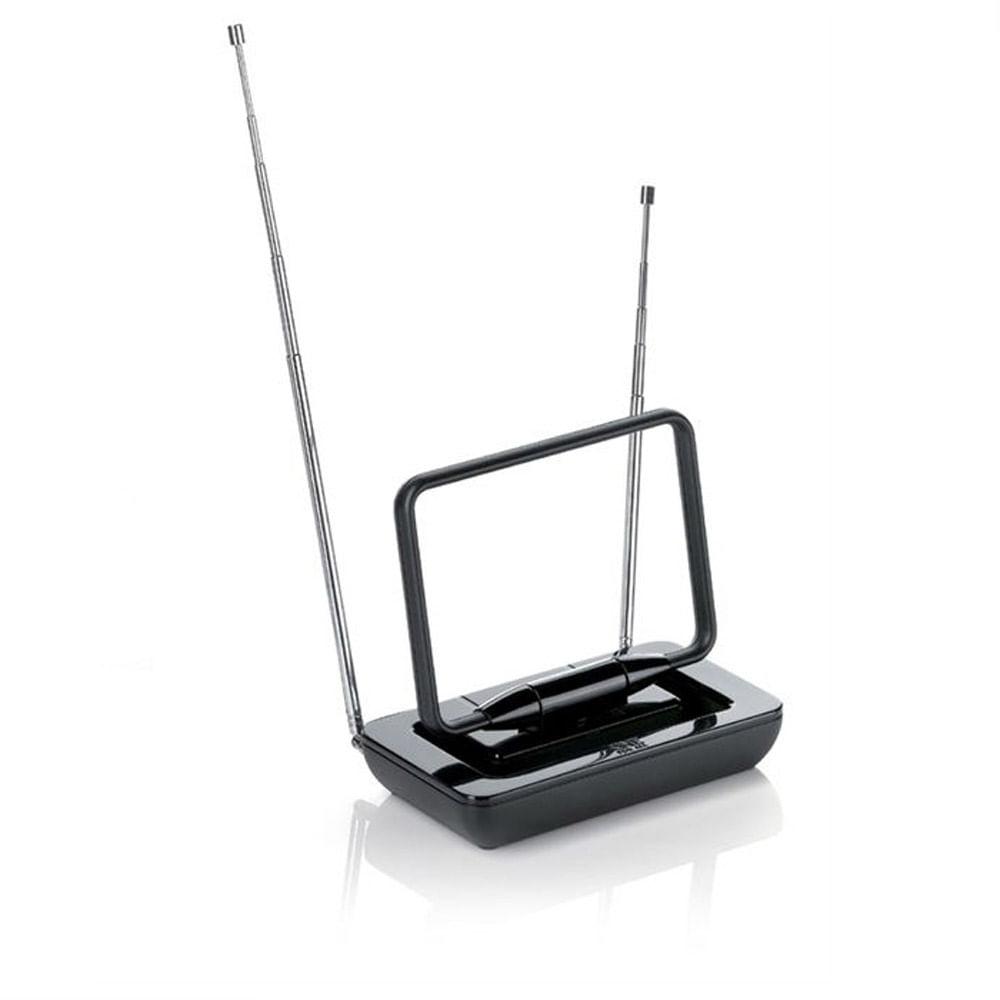 Antena Interna Passiva, Não Amplificada, Preta, VHF - UHF Digital e Rádio FM SV9015 - One For All