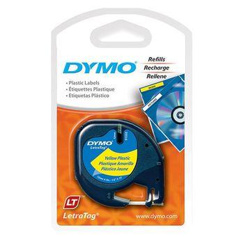Fita-para-Etiquetador-Eletronico-LetraTag--12mm-x-4m--Plastica-Preto-Amarelo-91332---Dymo