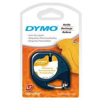 Fita-para-Etiquetador-Eletronico-LetraTag--12mm-x-4m--Tecido-Preto-Branco-Iron-On-18771---Dymo