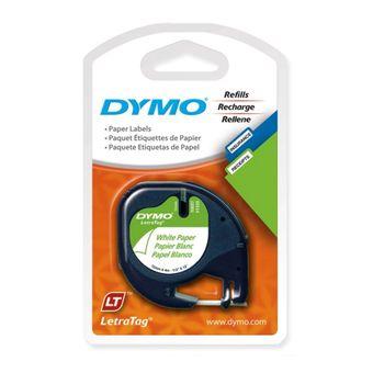 -Fita-para-Etiquetador-Eletronico-LetraTag--12mm-x-4m--Papel-Preto-Branco-10697---Dymo-