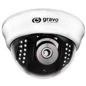 Camera-Mini-Dome-GDD-4201-15B-IR-15-m-CCD-1-3--Sony-Super-Had-Lente-36-mm-Branco---Gravo