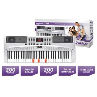 Teclado-Musical-KeyPro-Flash-61-KEP-61F-Teclas-Iluminadas-61-Teclas---WALDMAN