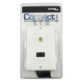Espelho-Connect-1-Saida-HDMI-F-e-1-Saida-F-Femea-0759196---CONNECT-PRO