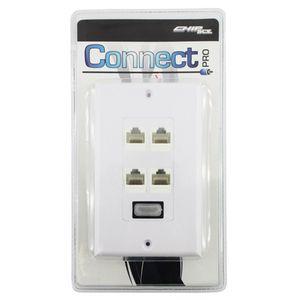 Espelho-Connect-1-Saida-HDMI-F-e-4-Saidas-RJ45-F-0759195---CONNECT-PRO