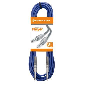 Cabo-Para-Guitarra-PLAYER-P10-X-P10-3M-Azul-HAYONIK