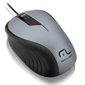 Mouse-Com-Fio-USB-Emborrachado-Cinza-E-Preto-MO225-Multilaser
