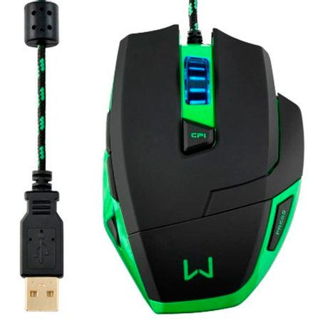 Mouse com Fio USB Warrior Gamer Macro 3200DPI MO245 Multilaser