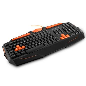 Teclado-Com-Fio-USB-Gamer-Multimidia-Preto