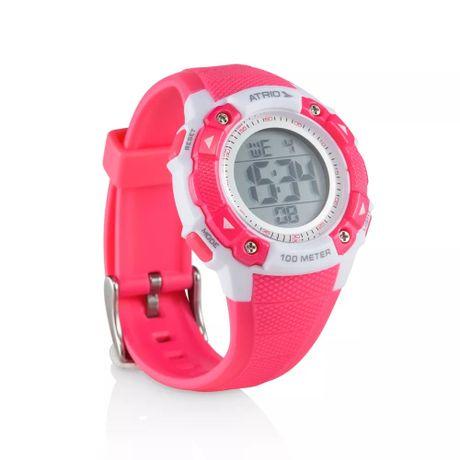 fdd7dbad9ae Relógio Feminino Iridium Branco Rosa ES097 Atrio - Eletronica Santana