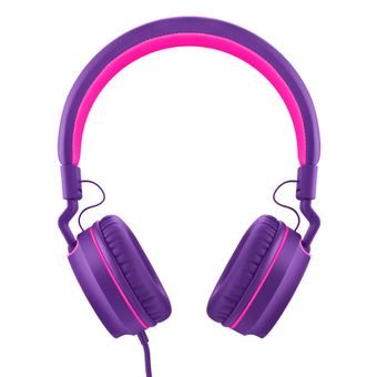 Headphone-Com-Fio-P2-Rosa-e-Roxo-Fun-PH161-Multilaser-Pulse-2