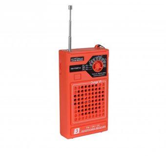 Rádio Portátil 3 Faixas Laranja Motobras