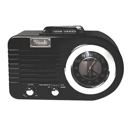 f3b6fd0388c Rádio Relógio Classic Columbia Preto 32.861 Classic - Eletronica Santana