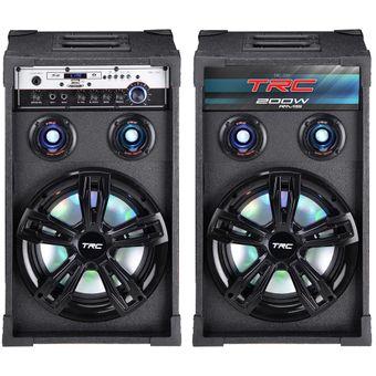 Caixa-de-Som-Amplificada-200w-Bluetooth-USB-Com-Microfones-TRC339---Delta-Max-0
