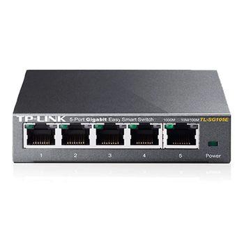 Switch 05 Portas 10/100/1000Mbps Gigabit TL-SG105E - TP-Link
