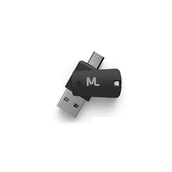 Cartão de Memória 16GB + Adaptador USB Dual Drive + Adaptador SD MC150 Multilaser