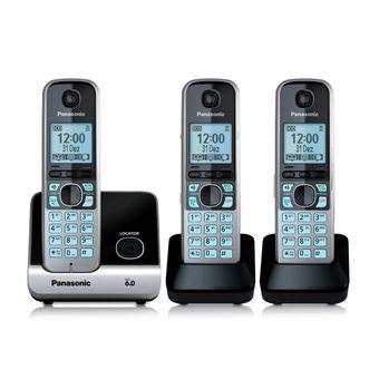 TELEFONE-SEM-FIO-COM-2-RAMAIS-KXTG6713LBB-PANASONIC