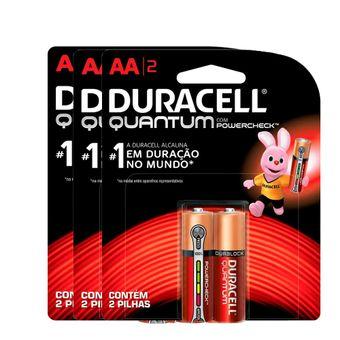 Kit-Pilhas-Alcalina-Pequena-AA-Quantum-com-6-Unidades-Duracell