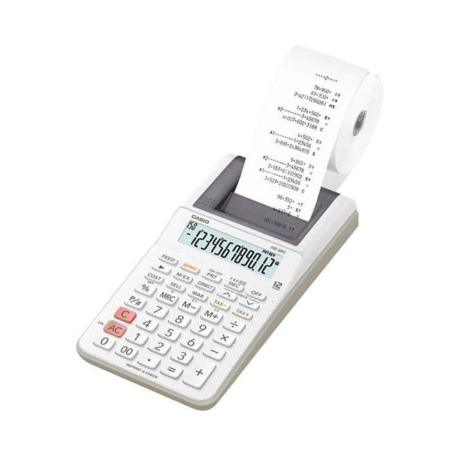 Calculadora-de-Mesa-com-Bobina-Dig-HR-8RC-WE-Branca-CASIO