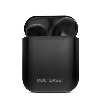 Fone de Ouvido sem fio Bluetooth TWS Airbud PH358 Preto Multilaser