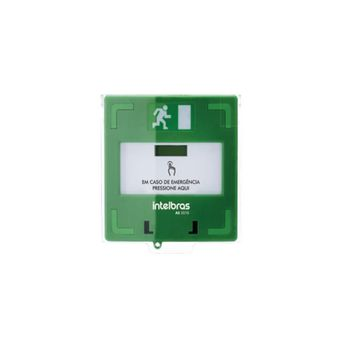 Acionador de Emergência Rearmável AS 2010 Verde Intelbras
