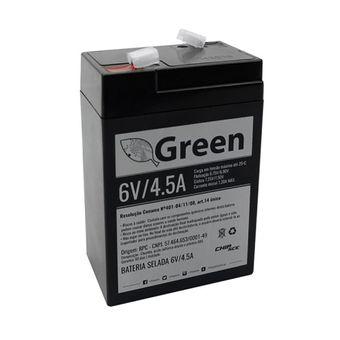 Bateria Selada VRLA 6V 4,5A Preta 013-2640 Green