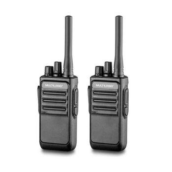 Rádio Comunicador Walkie Talkie Preto RE020 Multilase
