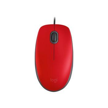 Mouse com Fio USB M110 Vermelho Logitech