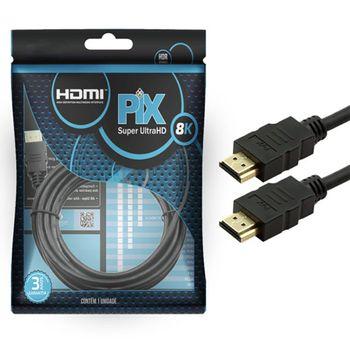 Cabo HDMI Classic 2.1 8K HDR 19 pinos 1,5m Pix